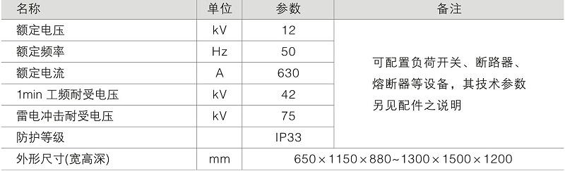 DFW户外电缆分支箱技术参数