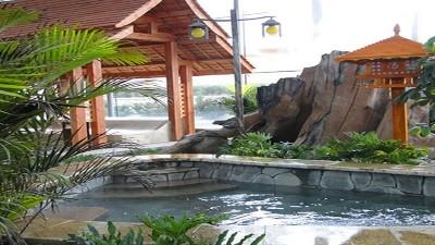 美的空气能中央热水温泉度假村